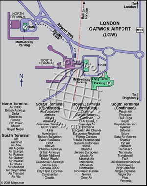 London Gatwick Airport Diagram Digital Map
